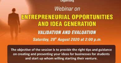 Webinar: 'Entrepreneurial Opportunities and Idea Generation – Validation and Evaluation'