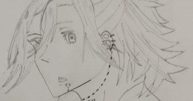 """Drawing of anime character """"Miyamura"""""""